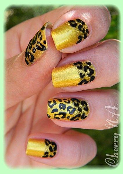 Gold Leopard Nail Art Design Everything Nails Pinterest Nail