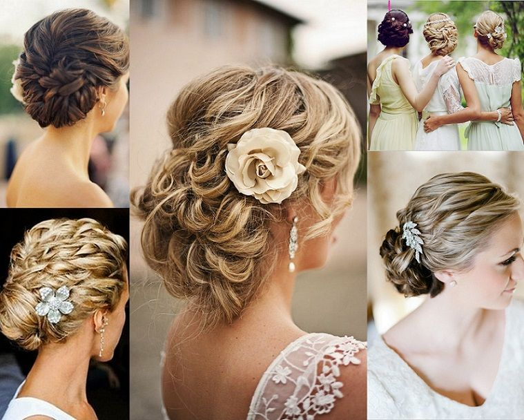 Wedding Hairstyles For Bridal And Bridesmaids Braided Curly Updo ...