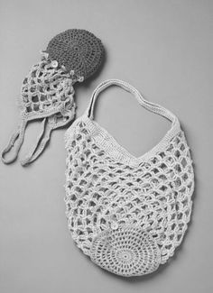 Bolsa de compras plegable – punto y crochet  – Bolsa