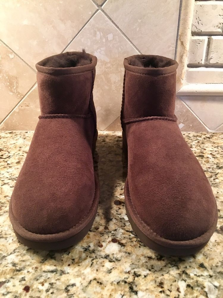 ff6f9d43061d UGG Classic Mini II 2.0 Chestnut Water-resistant Suede Boots Size US 7  Womens  fashion  clothing  shoes  accessories  womensshoes  boots (ebay  link)
