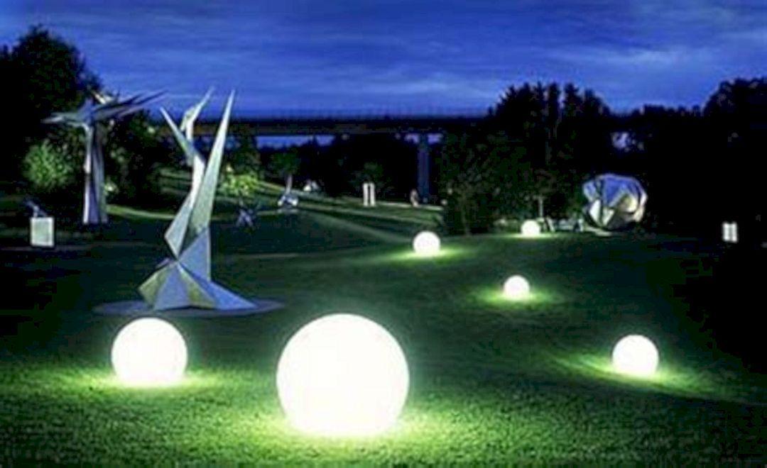 25 Beautiful Garden Lighting Could Be Inspire You For Garden Party Solar Lights Garden Landscape Lighting Garden Globes