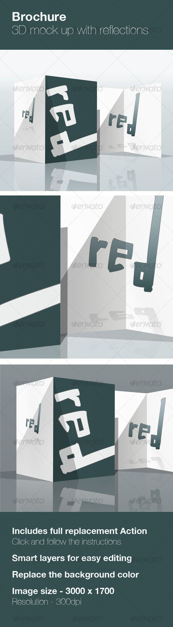 3d brochure mock up brochures print
