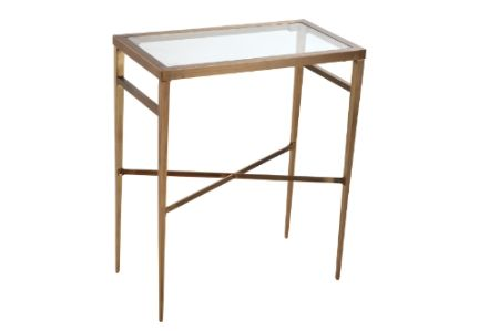Antique Brass Rectangular Side Table Rectangle Side Table Side