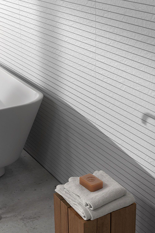 Keraben Mood Wandfliese 30x90 Oblique Blanco Blanco Banos