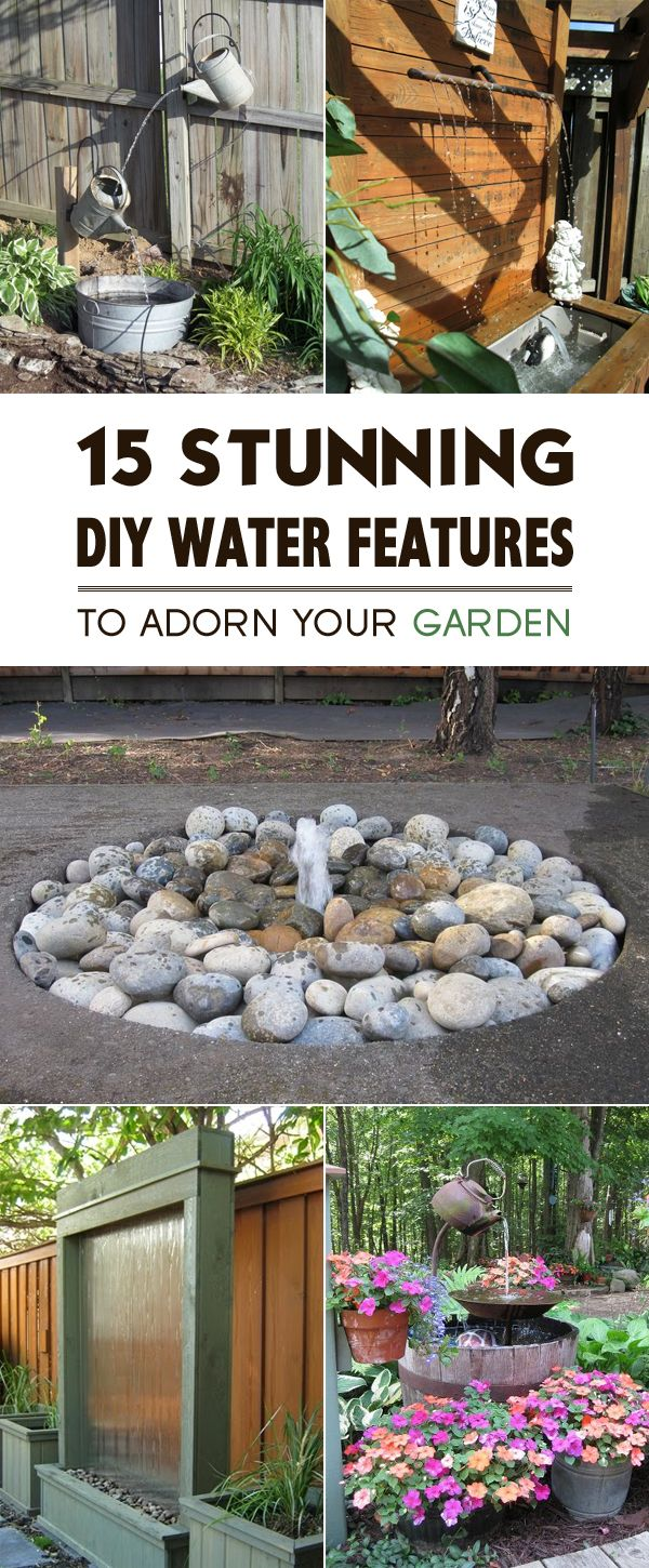 15 Stunning DIY Water Features to Adorn Your Garden #waterfeatures