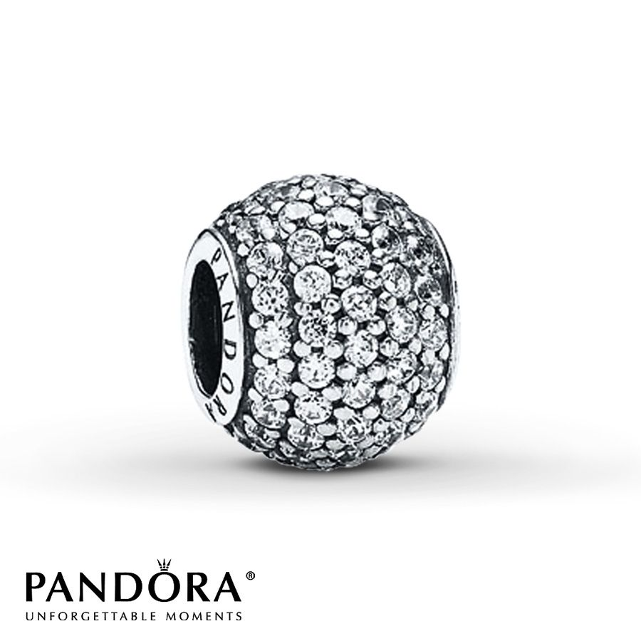 Jared Pandora Charm Clear CZ Sterling Silver CHARMS