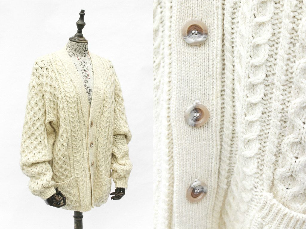 Cable Knit Cardigan • Oversized Cardigan • Chunky Knit Cardigan ...