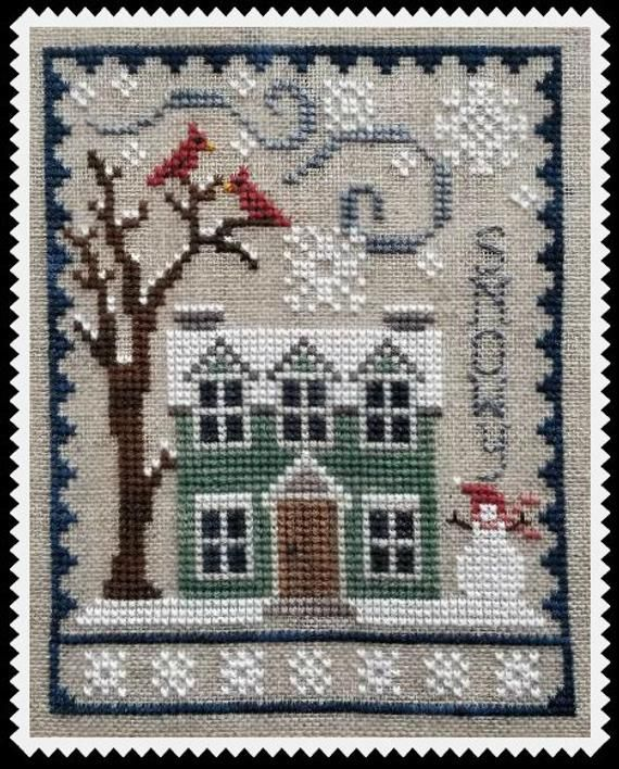 Photo of WINTER HOUSE TRIO Digital Pattern for Cross Stitch Cute and | Etsy