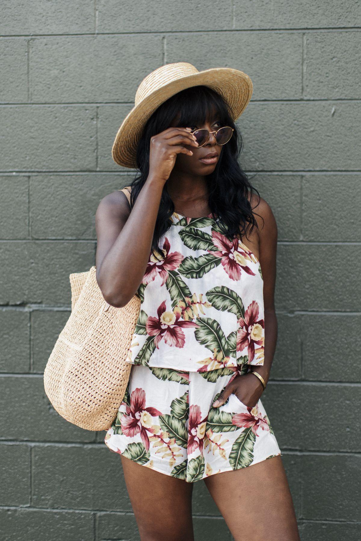 Show Me Your Mumu Cabana Short Selena Top Aloha Blooms Cloud Millennielle Fashion Blog