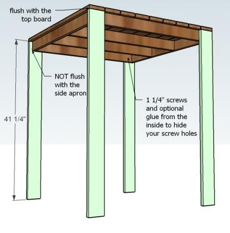 Ana White | Build A Outdoor Modern Bar Table, X Base | Free And Easy
