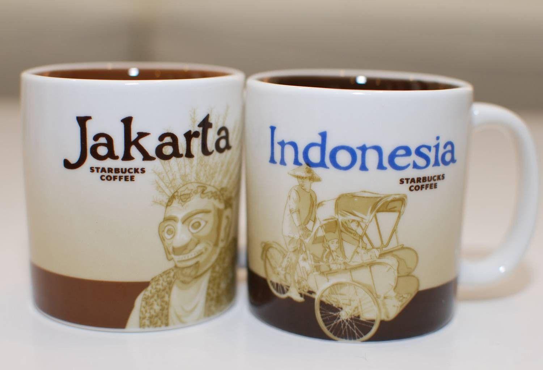 Starbucks Jakarta Indonesia Demi Cup Mugs Set Of Two 3 Fl Oz Starbucks Mugs Starbucks City Mugs