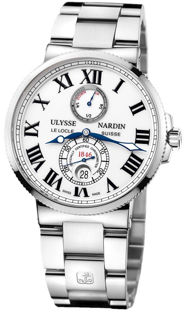 cb7b96fedc179 Ulysse Nardin Maxi Marine Chronometer White Dial Stainless Steel Automatic  Men s Watch 263-67-7-40 - Ulysse Nardin - Shop Watches by Brand - Jomashop