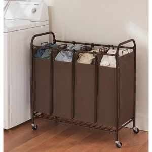 Better Homes And Gardens 4 Bin Laundry Sorter Perfect For Sorting And Keeping My Apartment Organized Back To School Apartment Organization Home Laundry Sorter