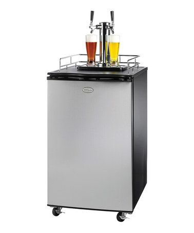 Nostalgia Double-Tap Stainless Steel Draft Beer Dispenser #zulily #zulilyfinds