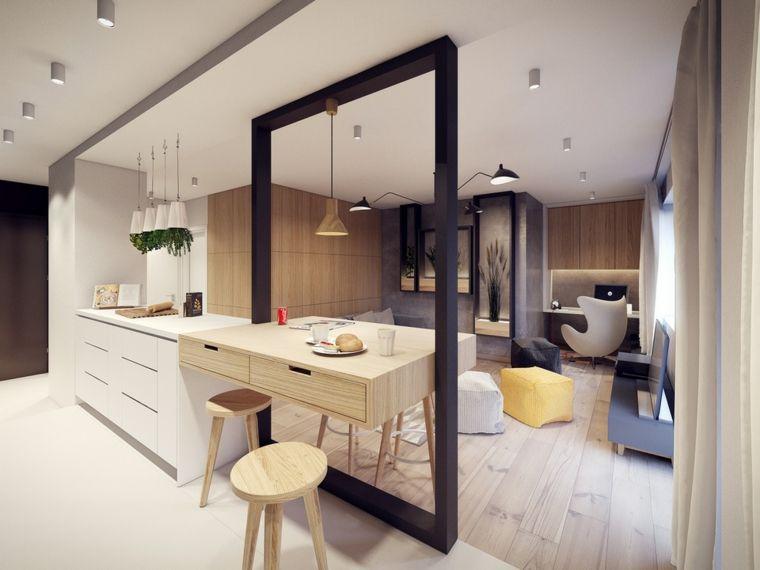 Cocinas con barra americana 35 diseños de lujo Pinterest - cocinas con barra