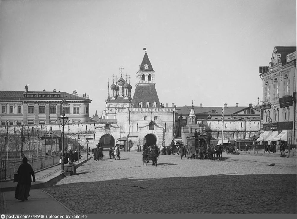 10 фото. Ворота и башни Китай-города 100 лет назад и сегодня | Про life в Москве и не только | Яндекс Дзен