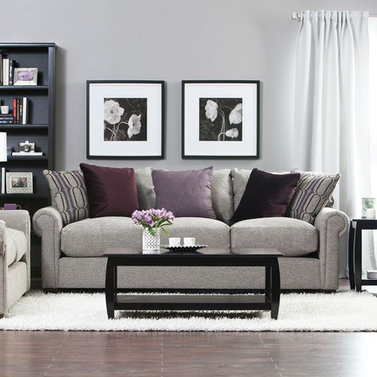 Linen Sofa And Loveseat With Nailhead Trim Jerome S Furniture