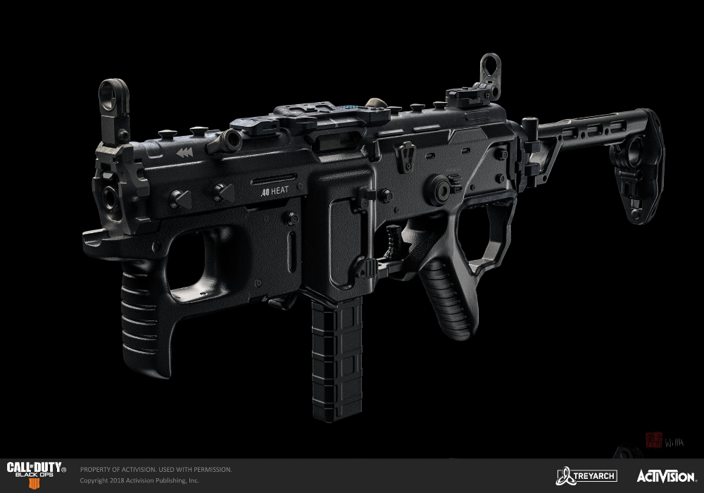 Artstation Call Of Duty Black Ops 4 Mx9 Smg Will Huang Black Ops 4 Call Of Duty Black Black Ops