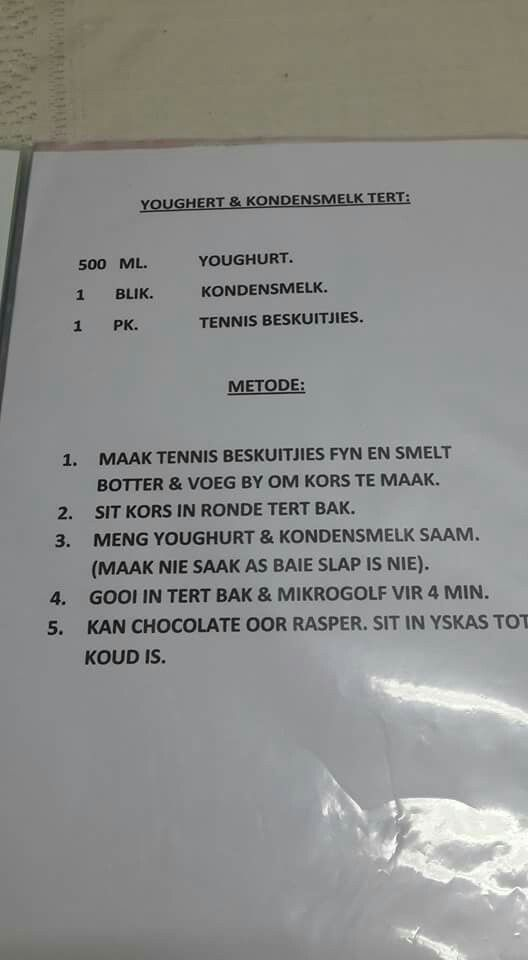 Yoghurt Tert Yummy Desserts Baking Tart Baking Condensed Milk Recipes