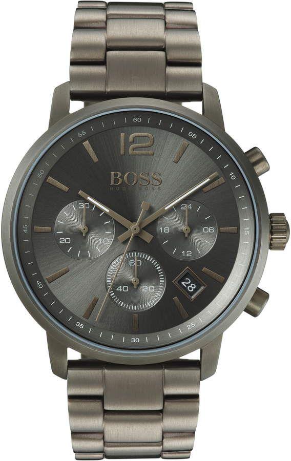 Boss Attitude Chronograph Bracelet Watch 44mm Uhren Herren Herren Chronograph Edelstahl Armband