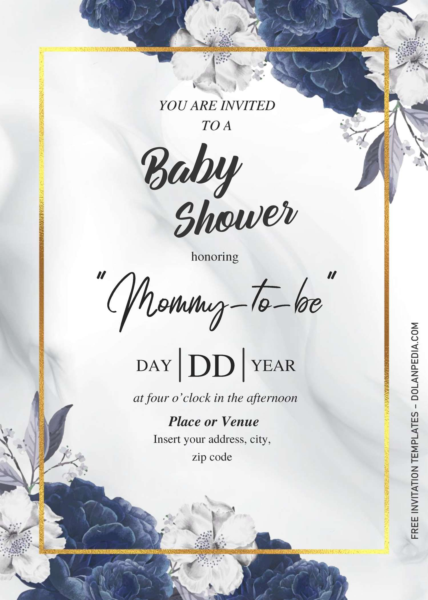 Dusty Blue Rose Baby Shower Invitation Templates Editabl Blue Baby Shower Invitations Baby Shower Invitation Templates Free Printable Baby Shower Invitations - ms word invitation templates free download