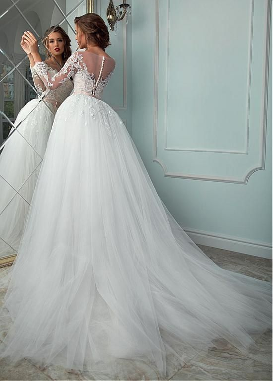 Buy discount Graceful Tulle Bateau Neckline 2 In 1 Wedding Dress ...