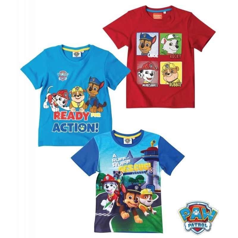 Paw Patrol Boys Kids Top Rubble T-shirt Ages 2 to 7 years Official NEW GIFT