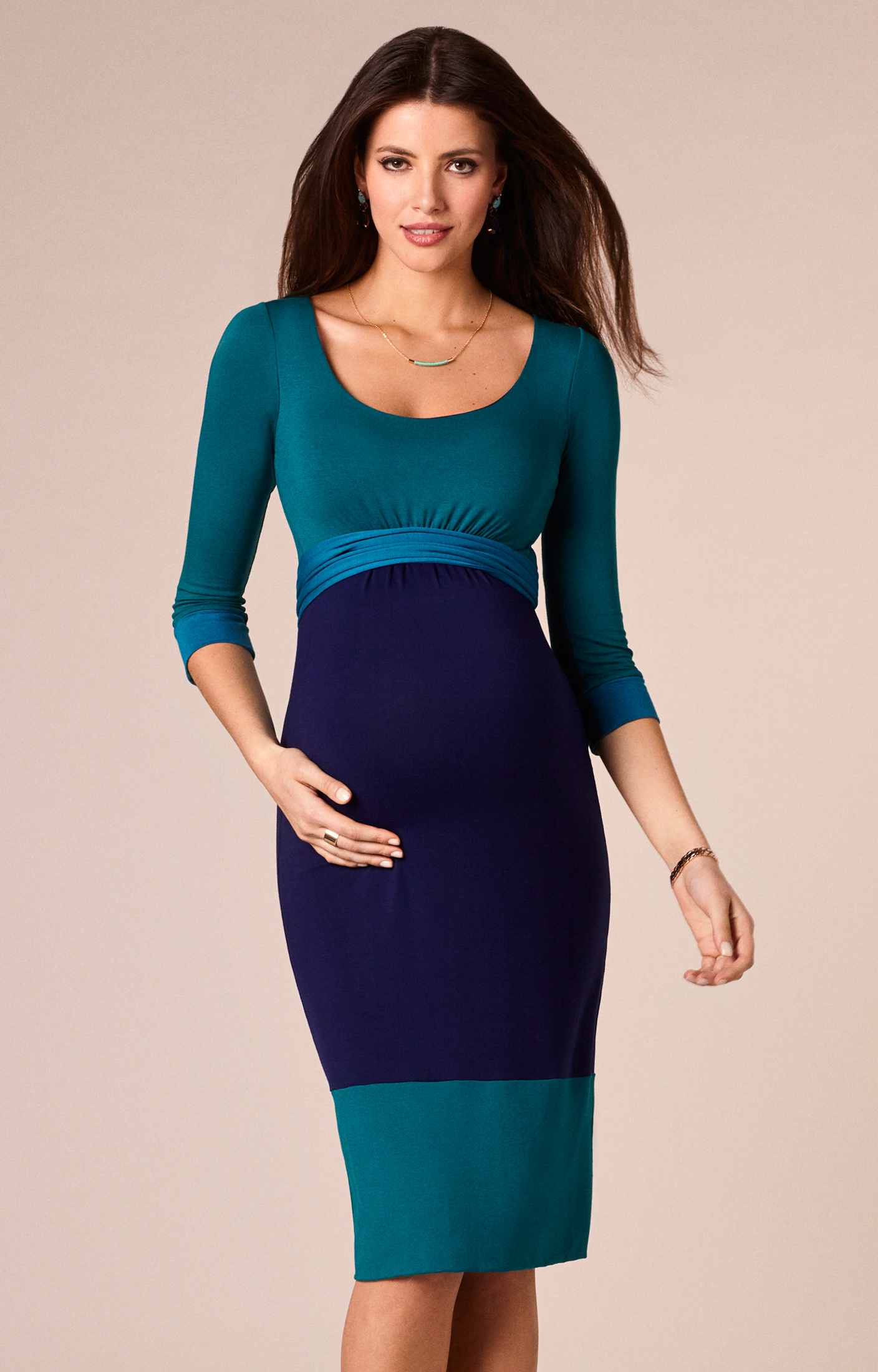 Colour-Block Kleid | Tiffany rose, Maternity dresses and Maternity ...