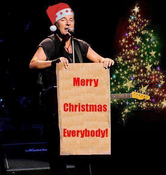 Bruce Springsteen Christmas.Merry Christmas The Boss Bruce Bruce Springsteen E