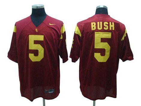 Reggie Bush USC Trojans #5 Red College Football NCAA Jersey
