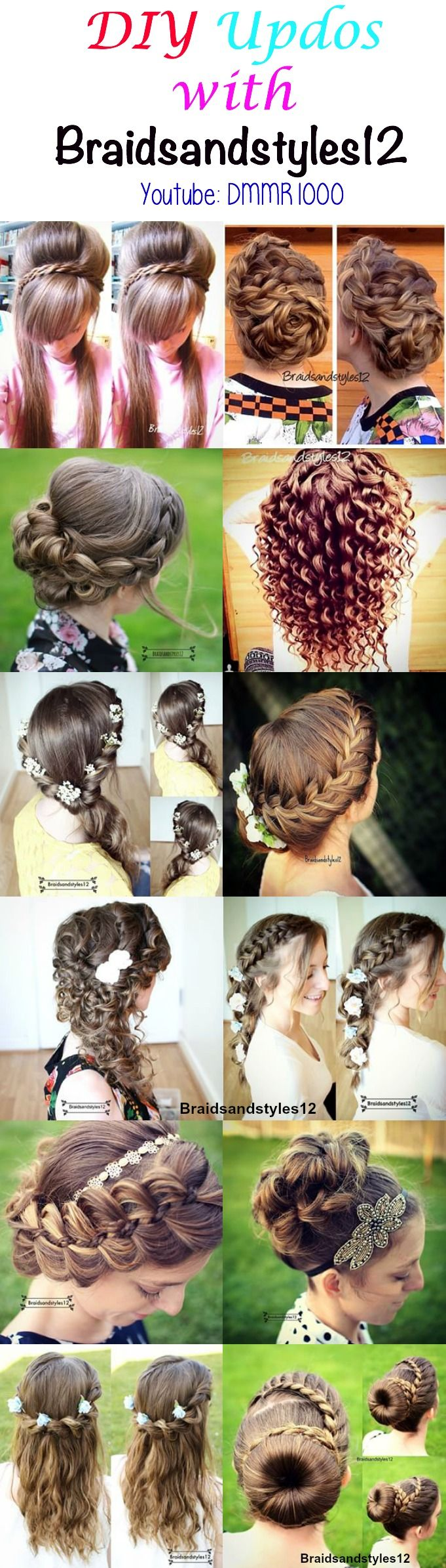 Braidsandstyles Updos Prom And Holidays - Diy updos youtube