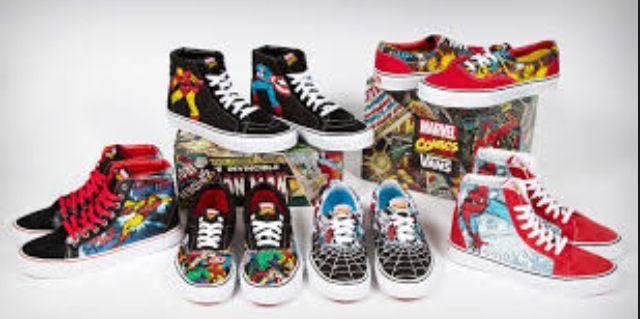 2vans zapatillas superheroes