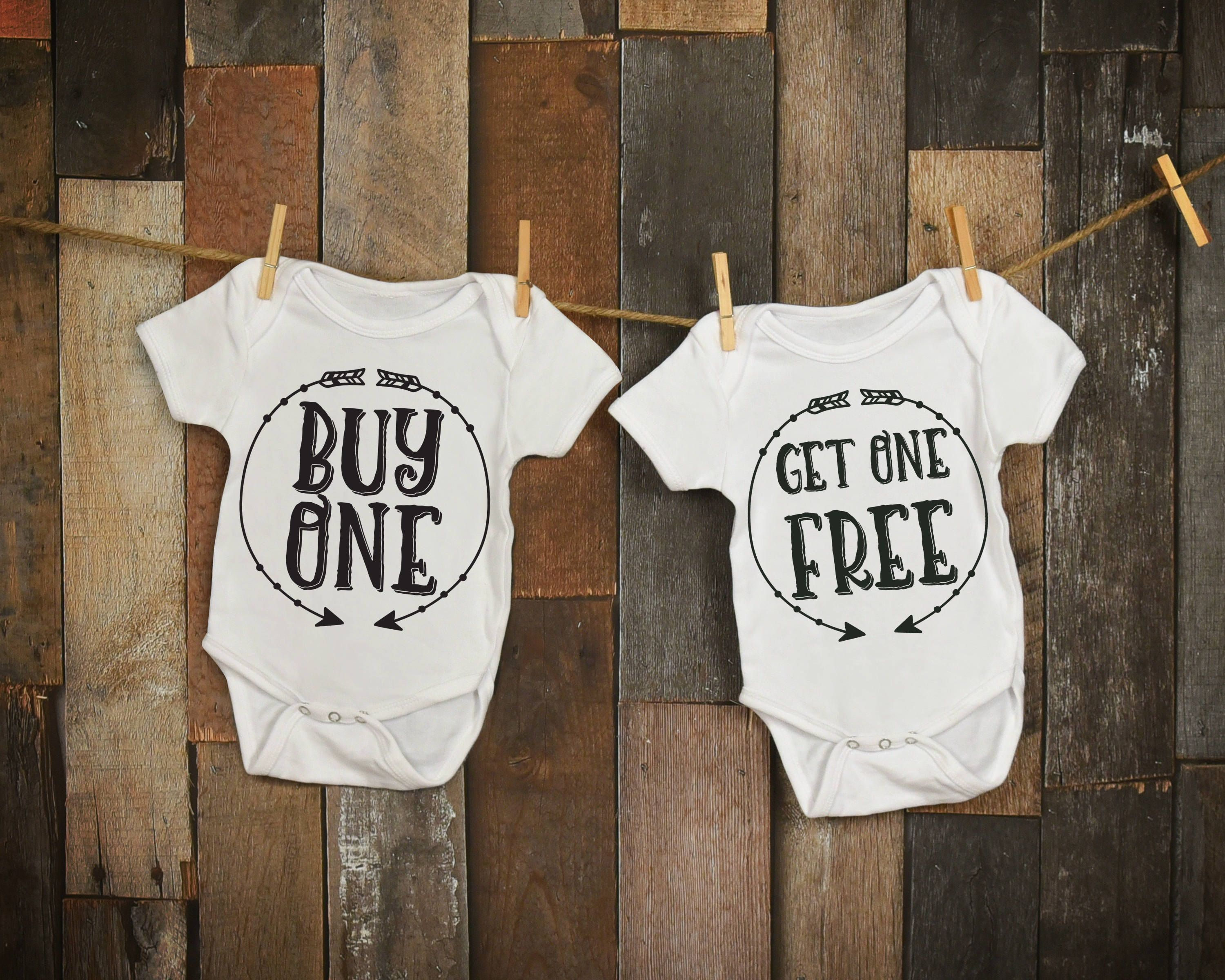 bd4c1d0ae Buy One Get One Free ~~ Twin Baby Onesies ~~~Choice of Two colors ...