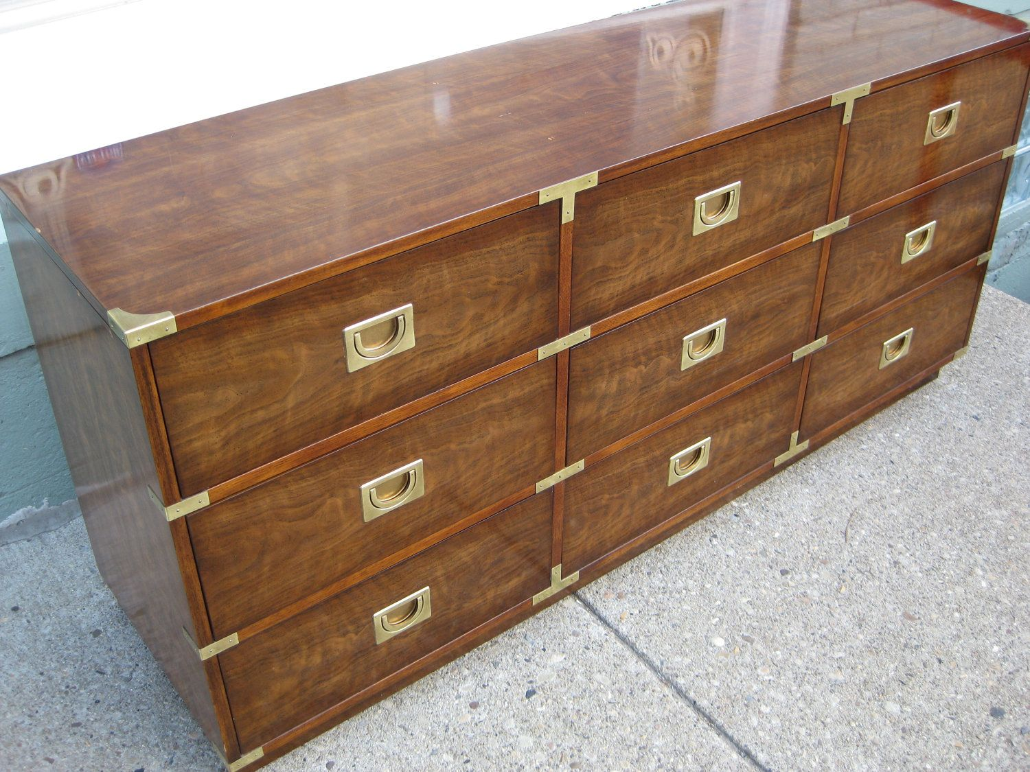 Drexel Campaign Style Credenza.