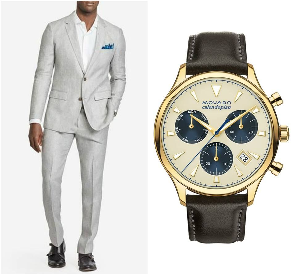 Movado has the watches you need to spruce up your formal look! Check out this Men's Movado Heritage Series Calendoplan chronograph. #DressToImpress #OutfitOnFleek
