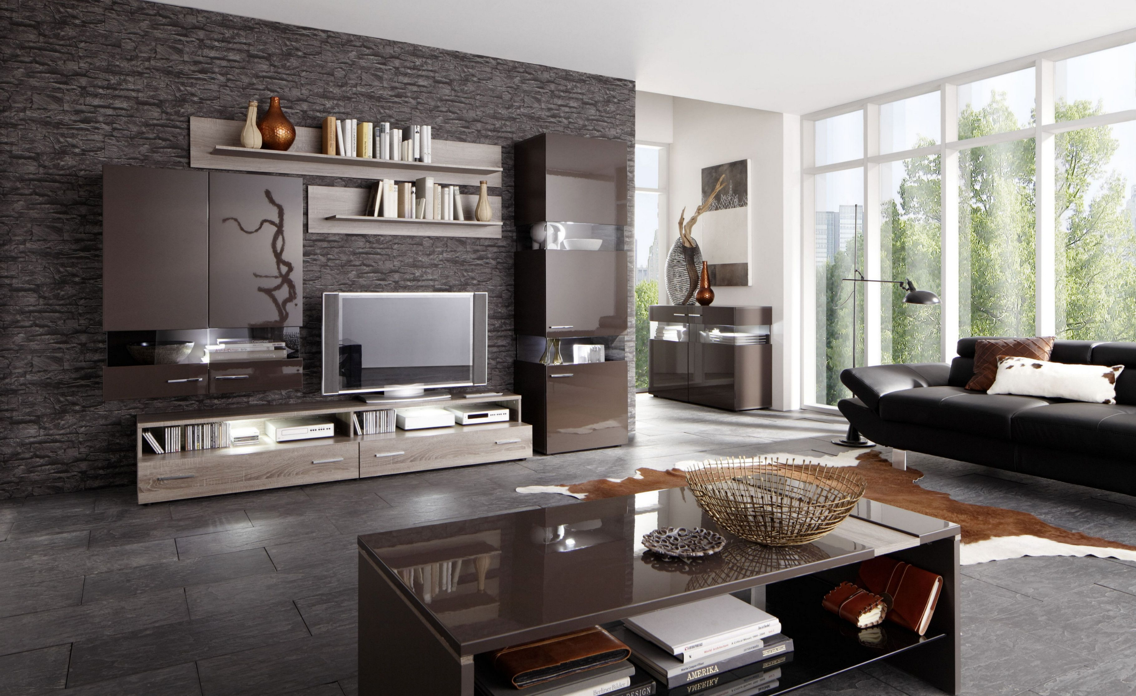 Wohnideen Wohnzimmer Braun Türkis