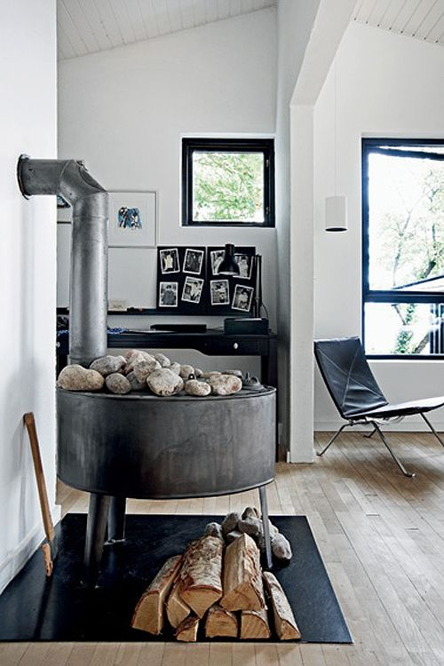 Wood Stove Vs Open Fireplace The Style Files Con Immagini