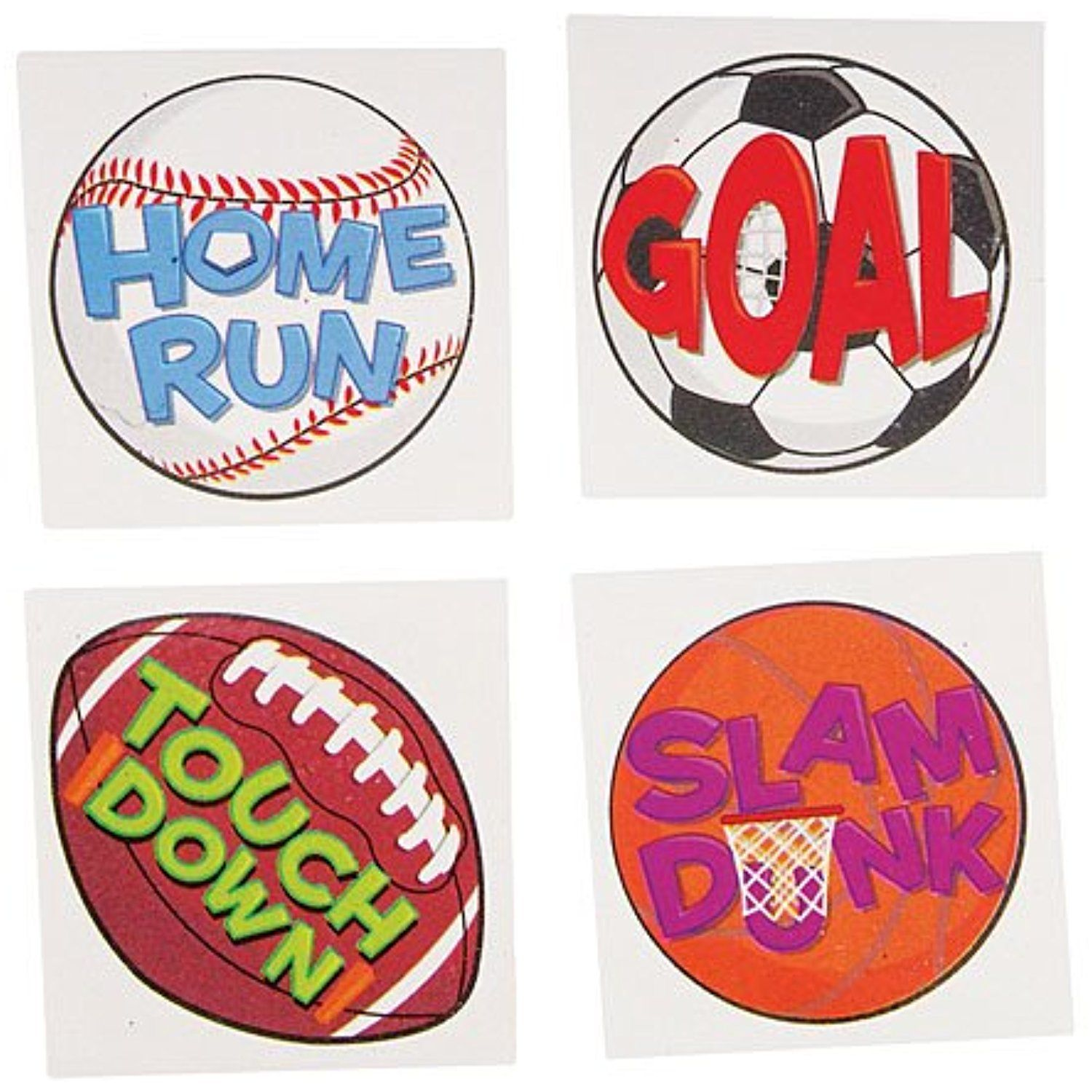 Assorted sports tattoos package of 144 you can find