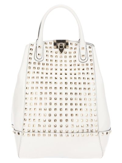 White leather bag from Valentino. Gorg!
