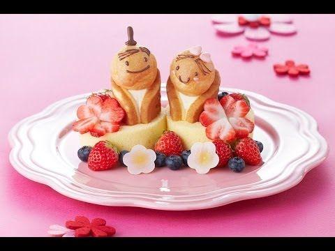 【スイーツレシピ】スイーツのおひなさま OHINASAMA made with sweets - YouTube