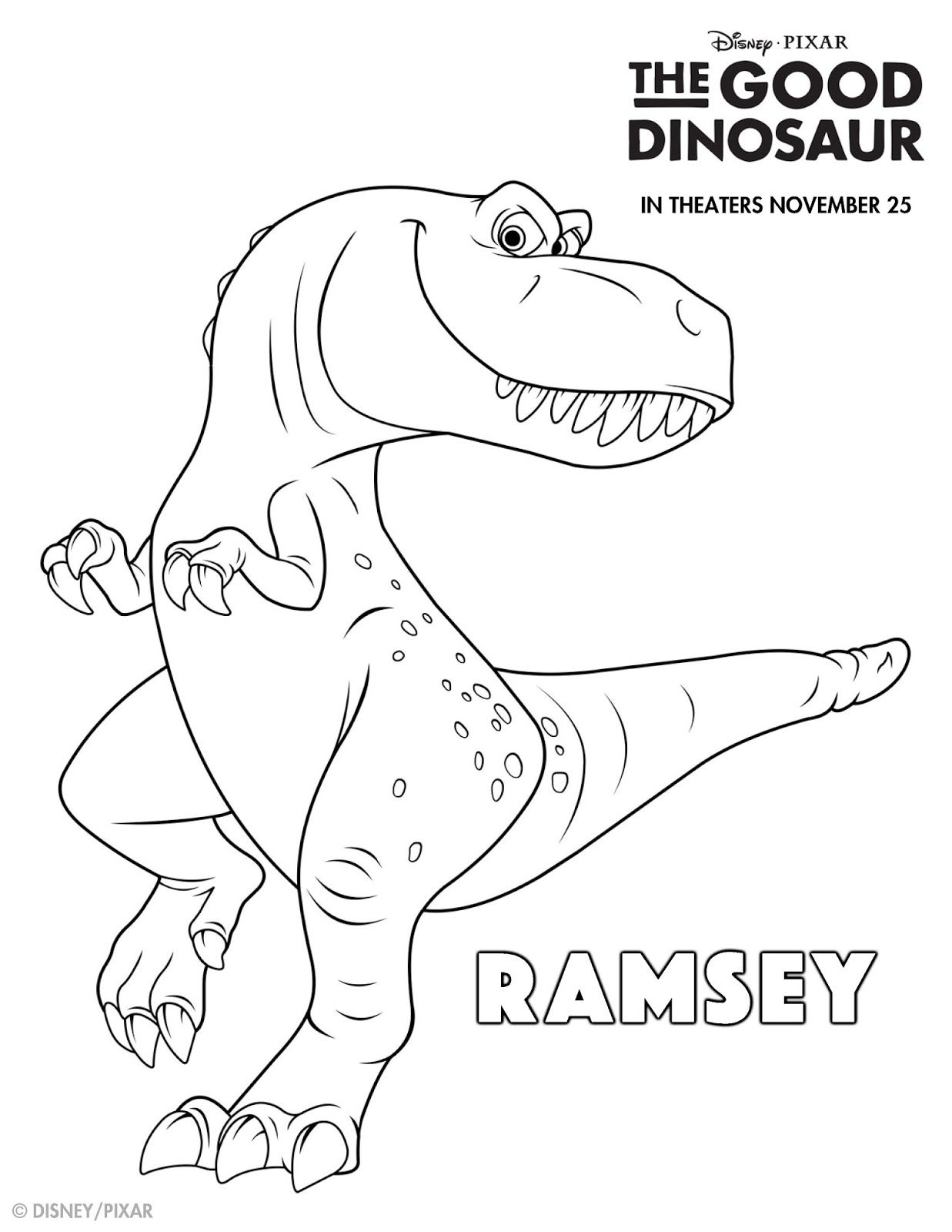 The Good Dinosaur Coloring Activity Sheets Dinosaur