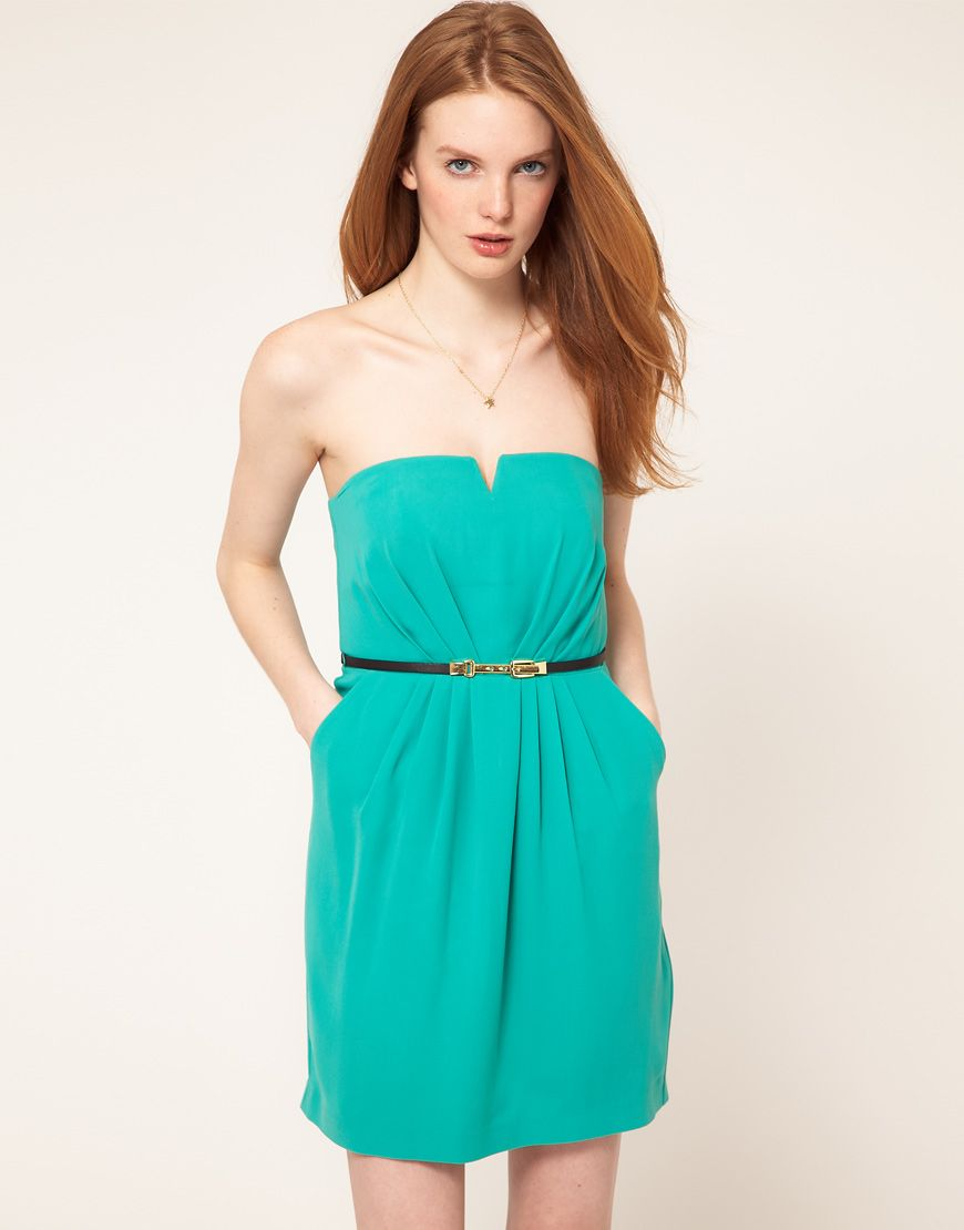 Bandeau dress by Oasis. | Clothesss | Pinterest | Bandeau dress ...