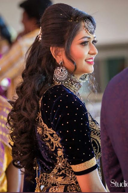 70 Long Hairstyles For Women Wedding In 2020 In 2020 Front Hair Styles Indian Bride Hairstyle Bridal Hairstyle Indian Wedding