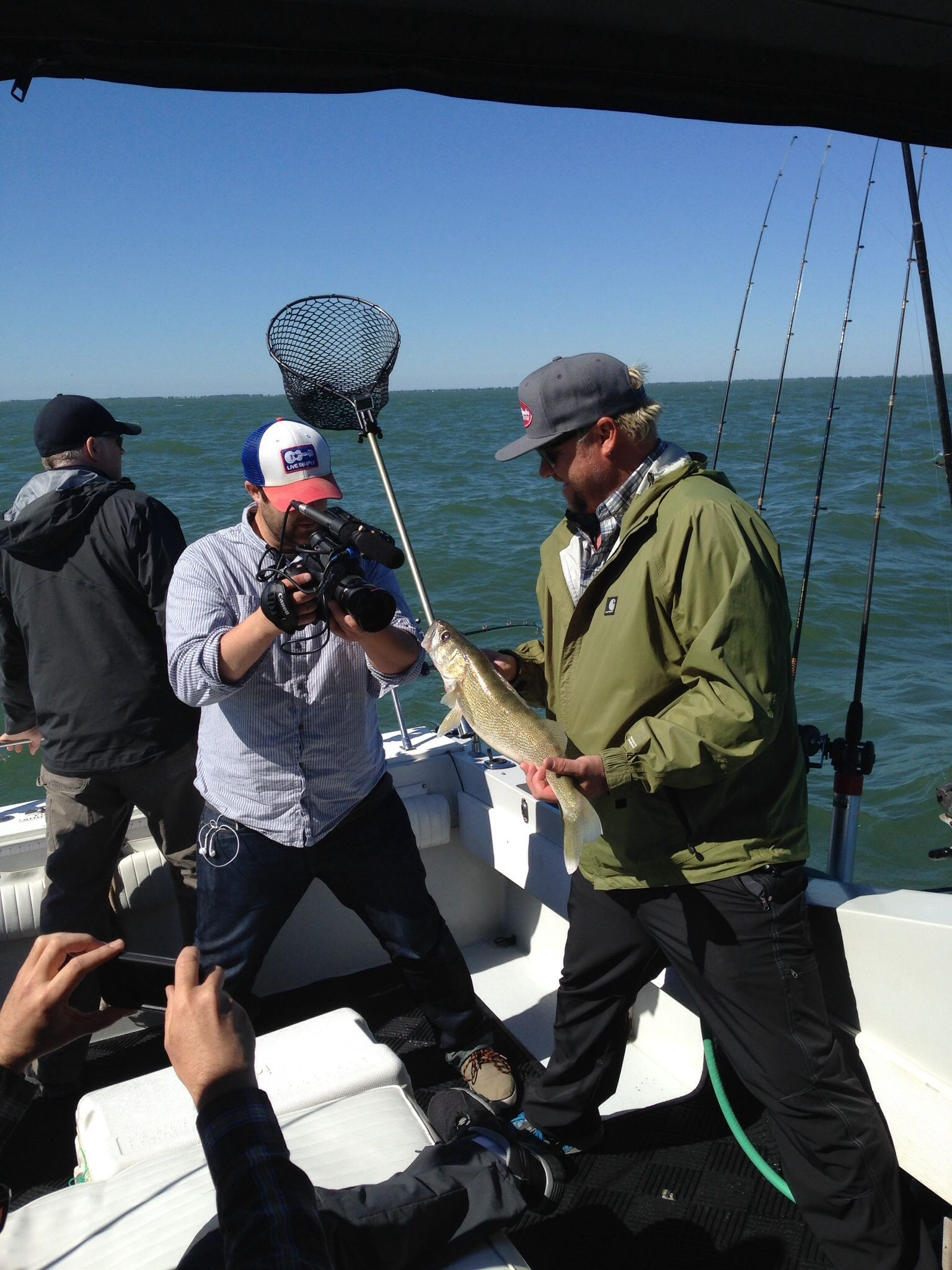 Filming a lake erie walleye trip with the guys from pure