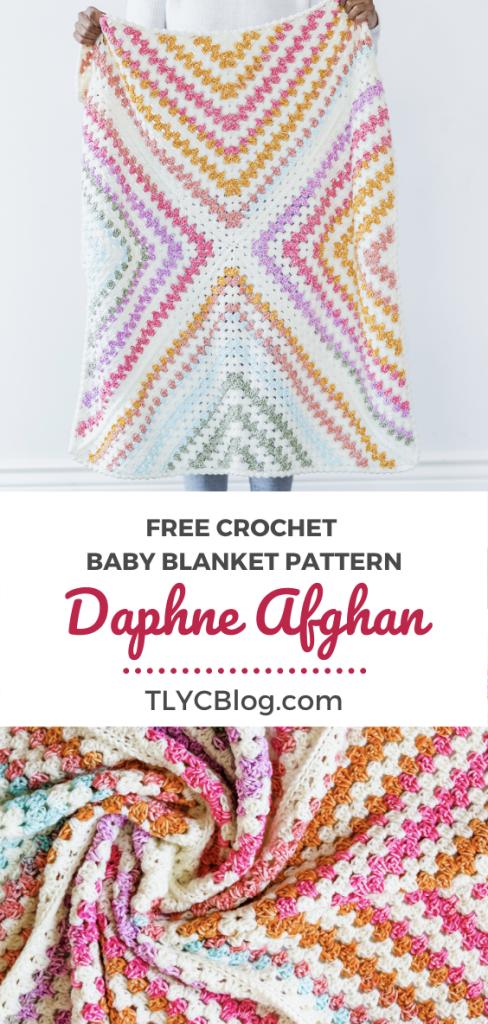 Beginner Crochet Baby Blanket - DAPHNE AFGHAN