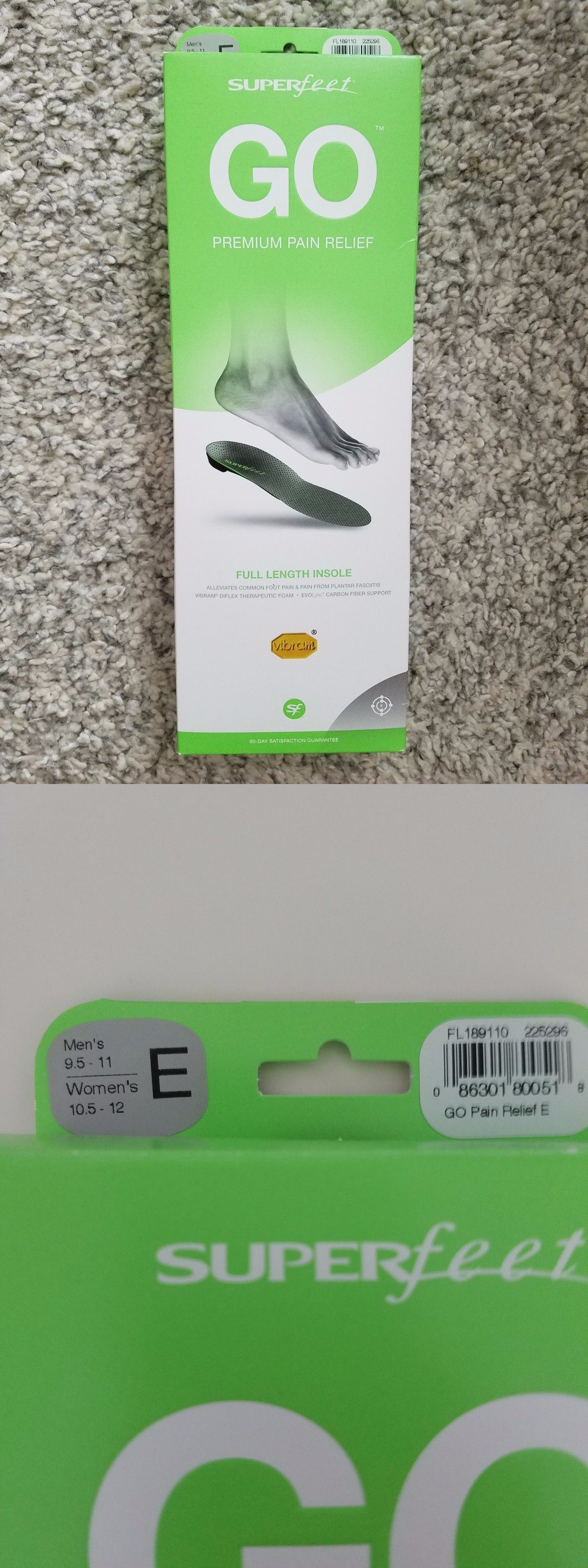 Superfeet GO Premium Pain Relief Insoles HWEzIJe