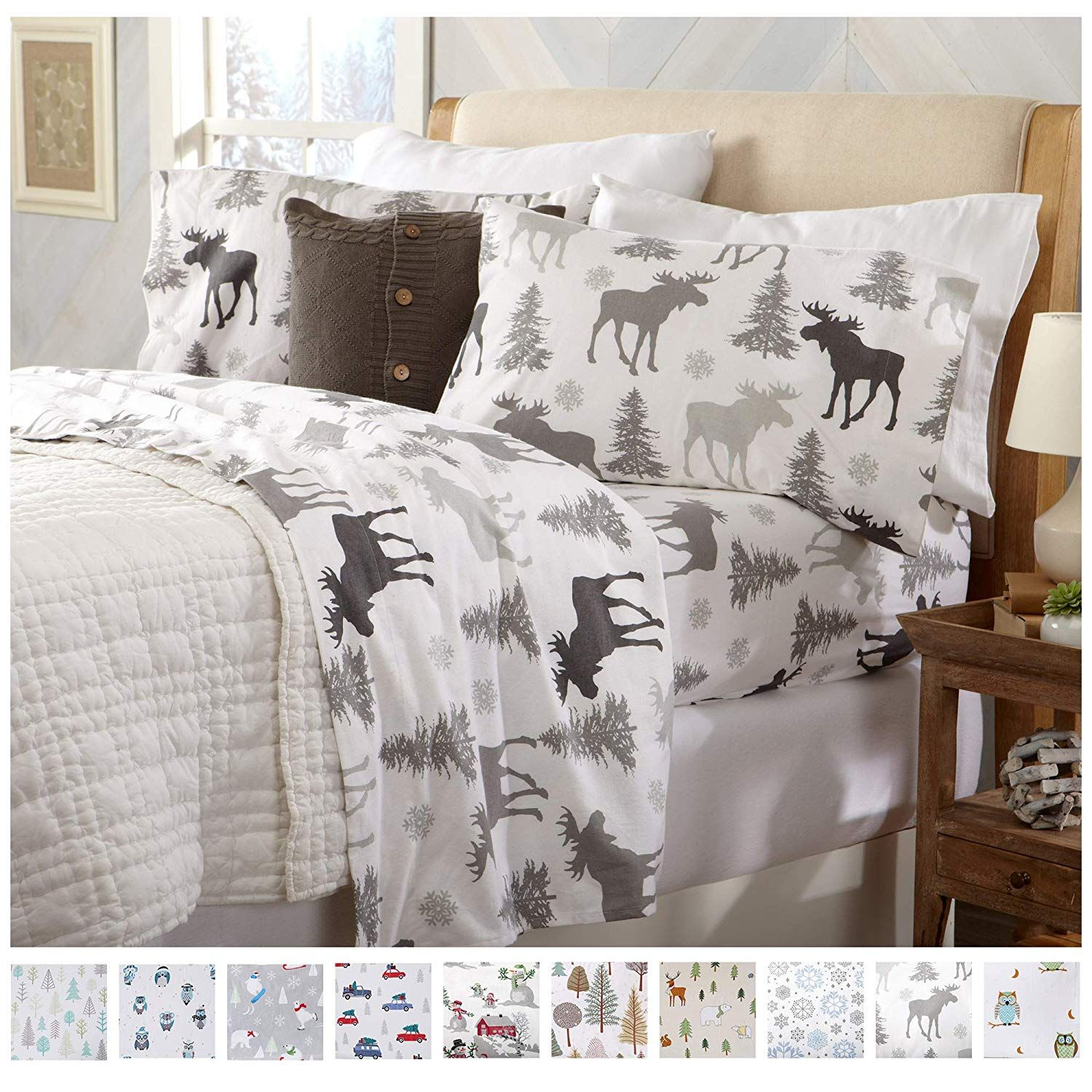 4 Piece Bed Set Egyptian Collection Winter Flannel 100/% Cotton Sheet Set