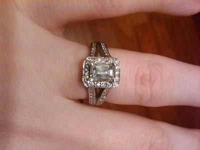 Emerald Cut Engagement Ring Pictures On Fingers 41 Wedding Ideas