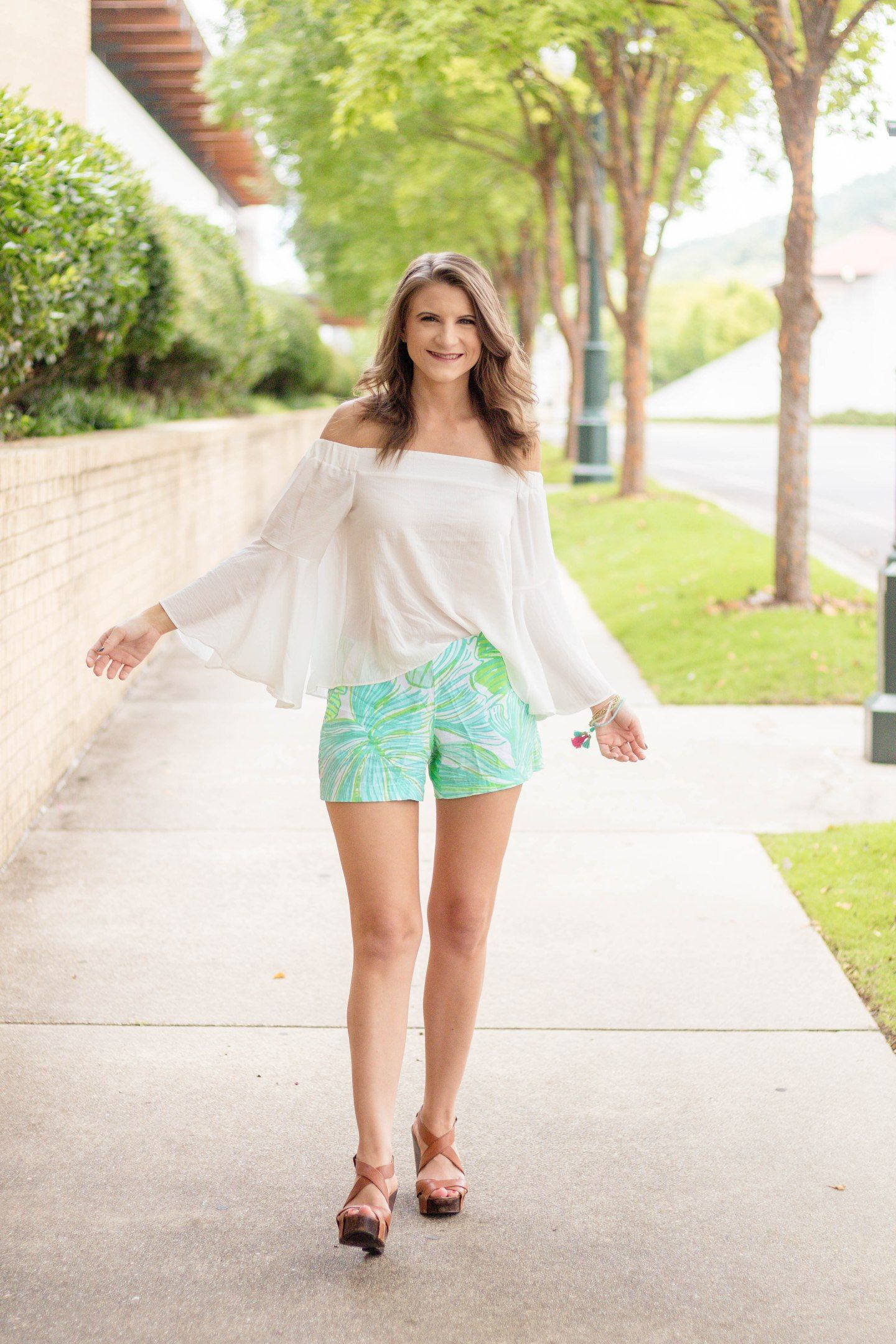 20186a9cefed08 Lilly Pulitzer Short and Off the Shoulder Top   Chic Little Honey ...