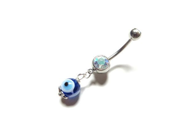 Blue Turkey Turquoise Beaded Belly Button Navel Ring Body Jewelry